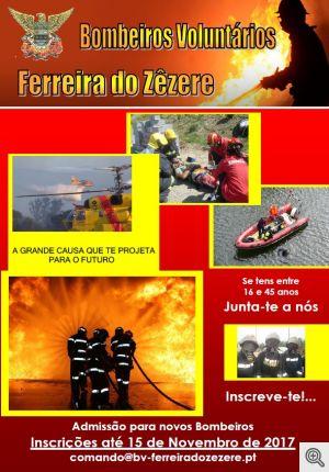 Admissão de Bombeiros Voluntários